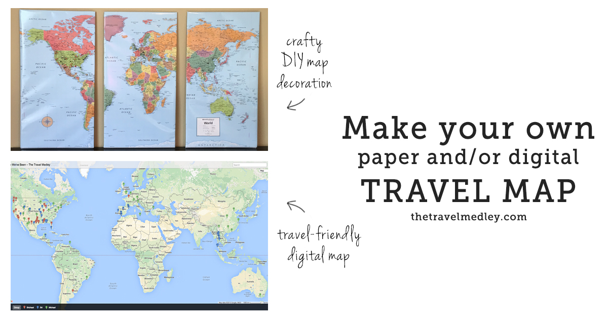 Track Your Travels PaperDigital Push Pin Travel Map – Track Travel Map