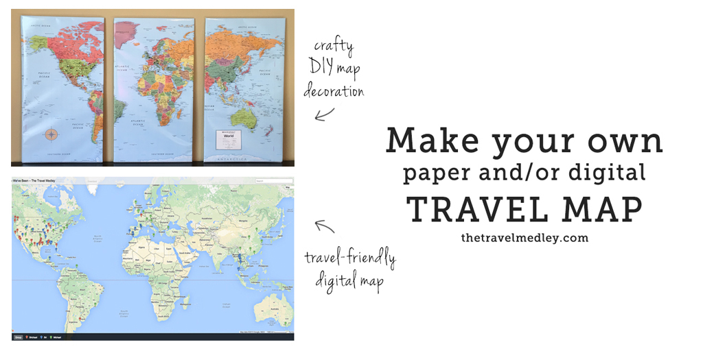 Track Your Travels PaperDigital Push Pin Travel Map - Make your own travel map
